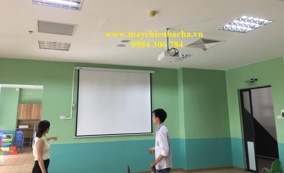 MAN CHIEU DIEN TREO TUONG 96 INCH - 136 INCH - 140 INCH - 2M24X2M24